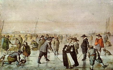 """Skating fun""  17.  vek,  Hendrick Avercamp, foto: wikipedia.org"